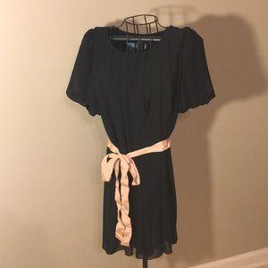 Black chiffon shift dress